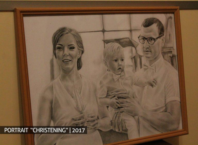 Krikštynos portretas pagal užsakymą