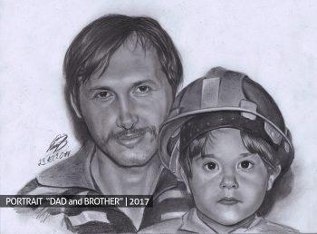 Отец и брат портрет на заказ