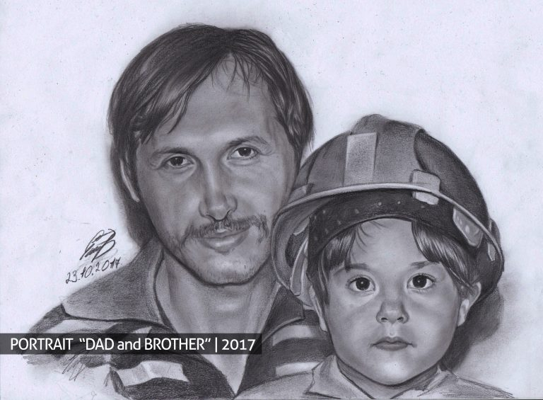 Order dad and brother portrait