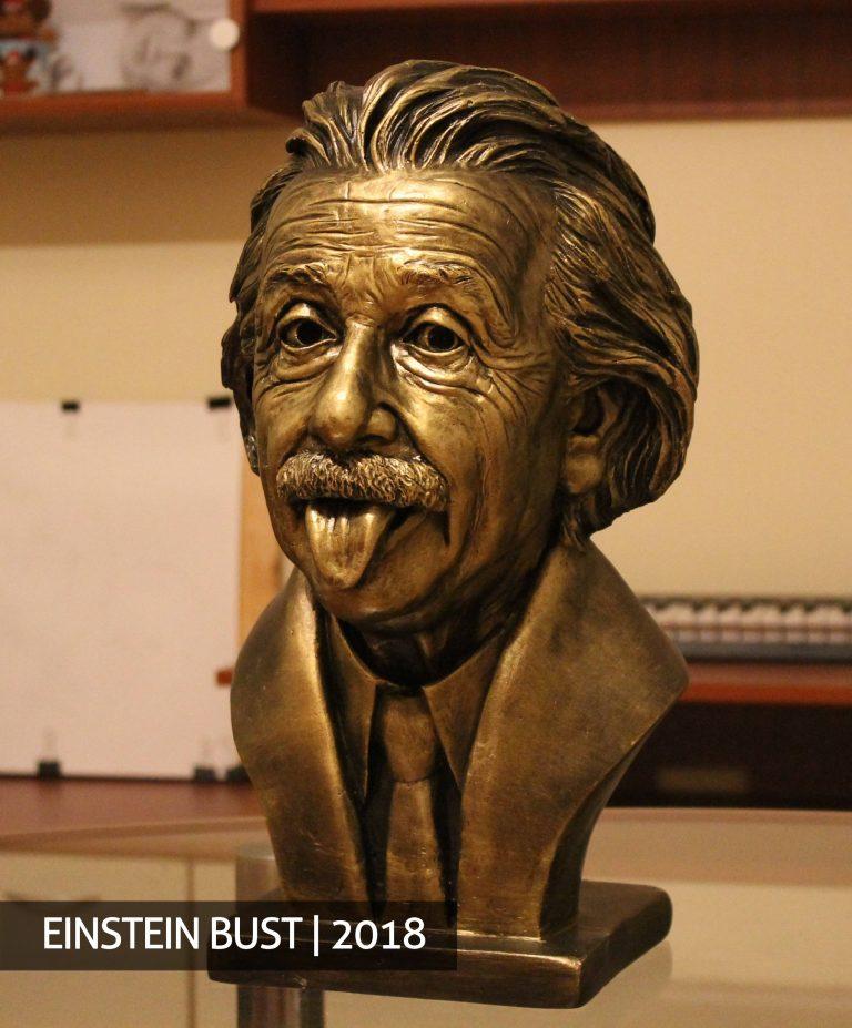 Albertas Einšnteinas skulptūrą pagal užsakymą skulptūros gamyba biustas