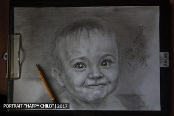 Счастливый ребёнок портрет на заказ