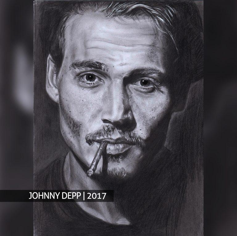 Johnny Deppas portretas pagal užsakymą