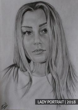 Портрет красивой девушки на заказ