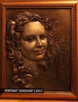 "Портрет ""Каролина"" скульптура на заказ производство скульптуры бюст"