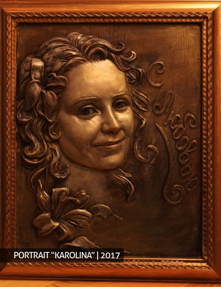 "Portrait ""Karolina"" order buy sculpture bust"