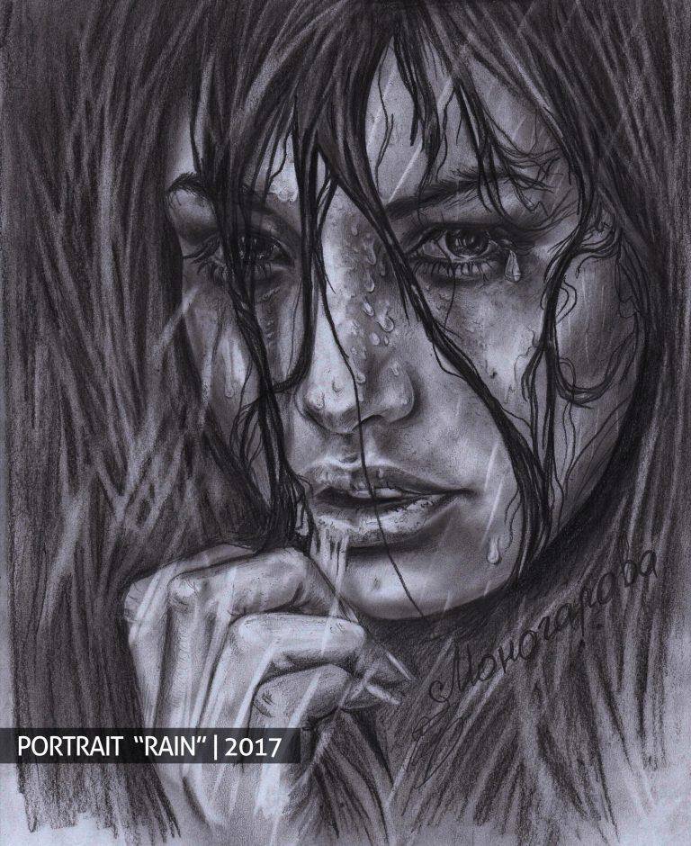 Lietus mergina portretas pagal užsakymą