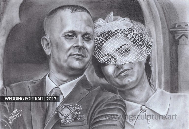 Newlyweds order portrait
