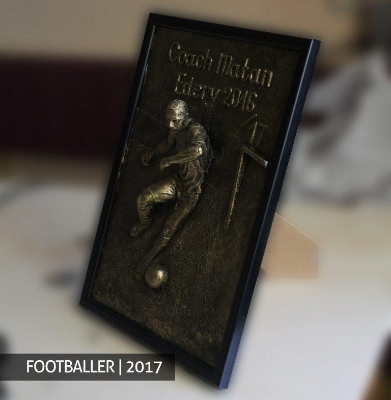 Footballer order buy sculpture bust