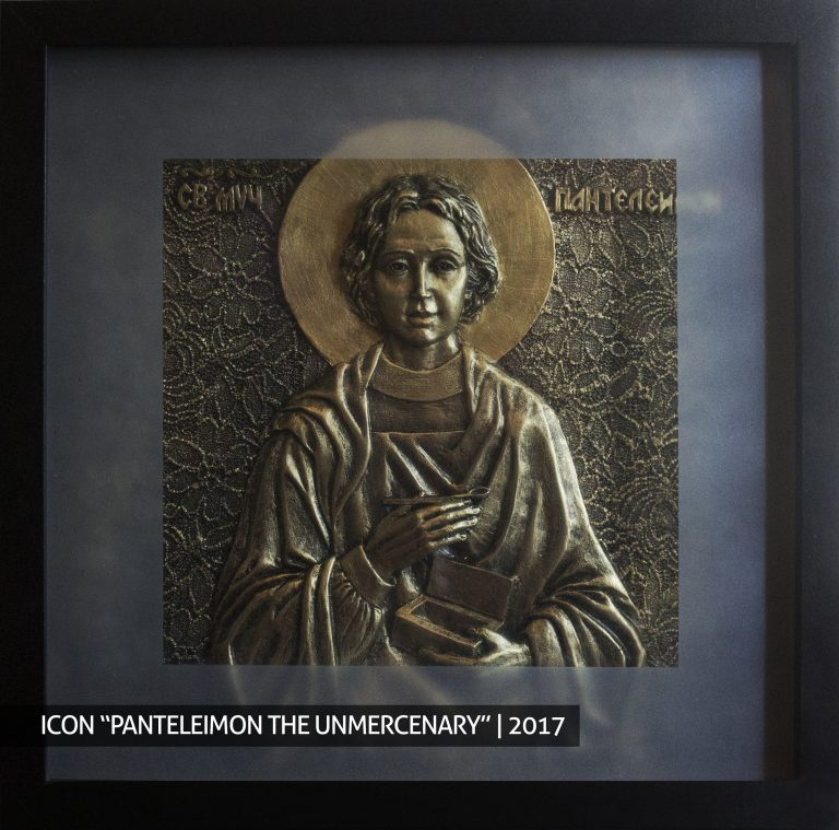 Panteleimon the unmencenary icon order buy sculpture bust