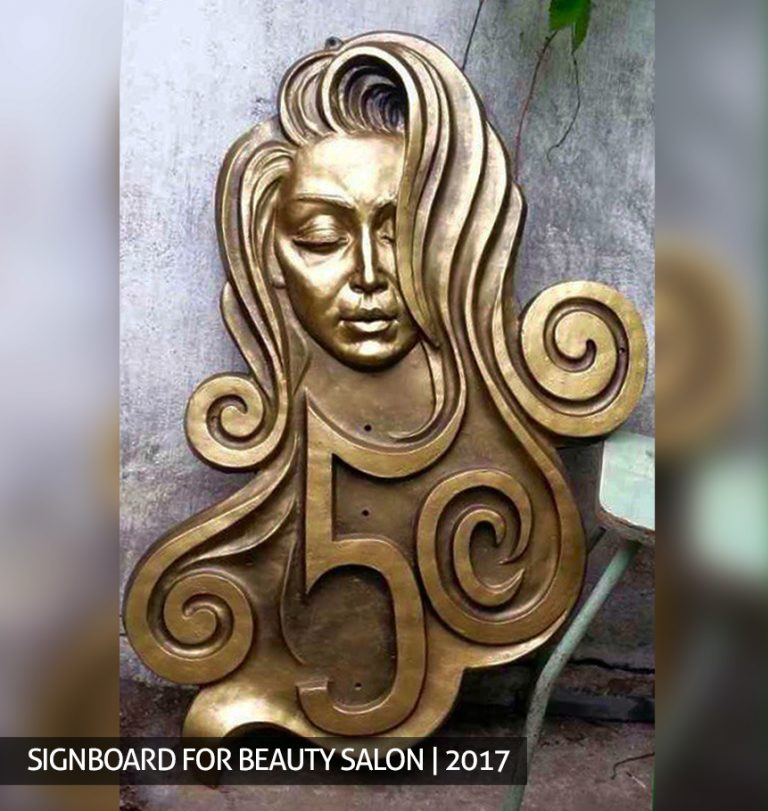Beauty salon signboard order buy sculpture bust